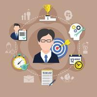 ilustração em vetor ícone conceito coaching