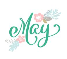 Mão esboçada Olá maio