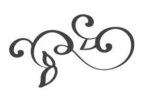 hand drawn flourish Elementos de caligrafia. Ilustração vetorial