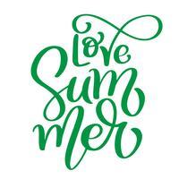 Amor de verão vetor