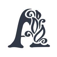 Elementos de modelo de design do ícone letra A logotipo letras sinal vector