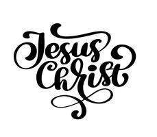 Mão desenhada jesus cristo vetor
