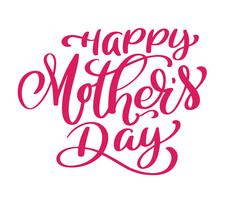 Feliz dia das mães texto manuscrito