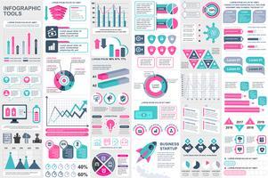 Modelo de design do vetor de elementos de visualização de elementos infográfico