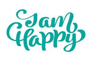 Frase de texto feliz mão desenhada Jam