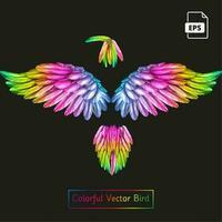 Pássaro colorido vector