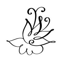 mão desenhada florescer ilustração vetorial