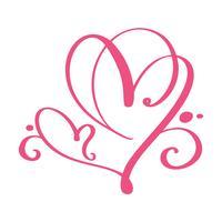 Sinal de amor de coração para sempre para feliz dia dos namorados. Infinito símbolo romântico ligado, juntar, paixão e casamento. Modelo para t-shirt, cartão, cartaz. Elemento plano de design. Ilustração vetorial