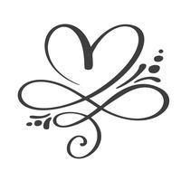 Coração amor assinar para sempre. Infinito símbolo romântico ligado, juntar, paixão e casamento. Modelo para t-shirt, cartão, cartaz. Elemento plano de design do dia dos namorados. Ilustração vetorial