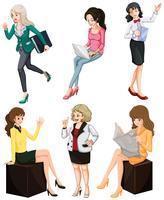 Mulheres ocupadas vetor