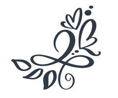 Hand drawn border flourish separator Elementos de designer de caligrafia. Ilustração em vetor vintage casamento isolada no fundo branco