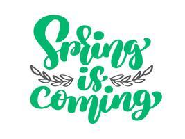 Vector Primavera está chegando de galhos e folhas
