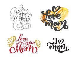 feliz dia das mães conjunto vetor