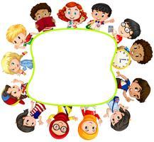 Design de fronteira com meninos e meninas