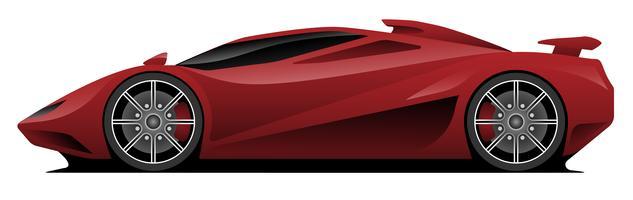 Ilustração vetorial de carro super vetor