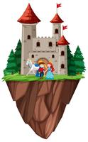 Castelo de príncipe e princesa isolado