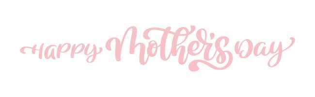 happy mothers day Citações de rotulação de mão desenhada vetor