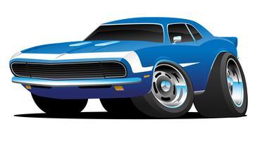Ilustração clássica do vetor dos desenhos animados do hot rod do carro do músculo do estilo dos anos sessenta do clássico