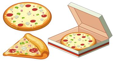 Pizza em caixa de papel