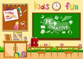Sala de aula de jardim de infância sem crianças vetor