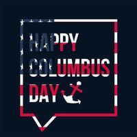 banner de celebração do feliz dia de colombo vetor