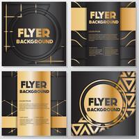 Folheto de ouro fundo flyer estilo modelo de design vetor