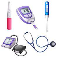 Instrumentos médicos diferentes vetor