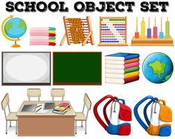 Objetos e ferramentas escolares vetor