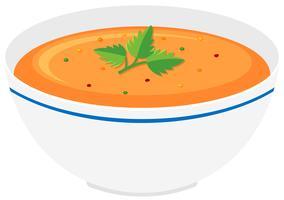 Tigela de sopa de abóbora vetor