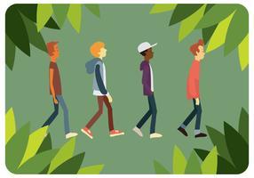 Childrens andando vetor definido