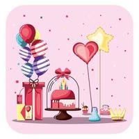 celebração de feliz aniversário vetor