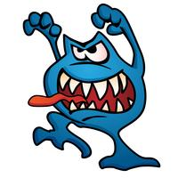 Ilustração em vetor parvo monstro criatura dos desenhos animados