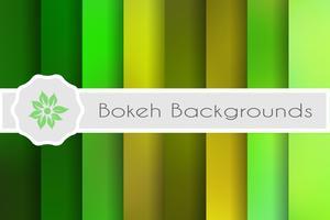 Fundos de bokeh conjunto de cenários decorativos para vetor