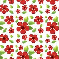 Design de fundo sem emenda com flores vermelhas