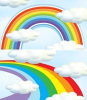 Arco-íris no céu azul vetor