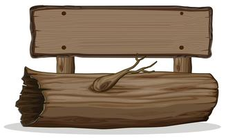 Tabuleta de madeira de tronco de árvore