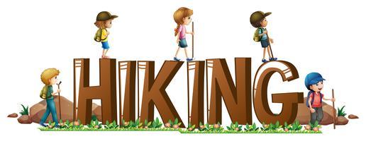 Design de fonte com a palavra hinking vetor