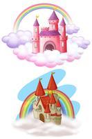 Um conjunto de belo castelo de conto de fadas
