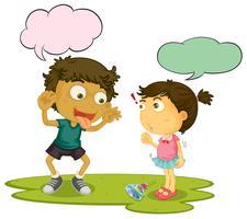 Valentão crianças speeach balão vetor