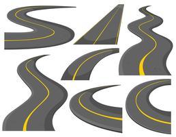Padrão diferente de estradas vetor