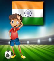 Modelo de jogador de futebol da Índia