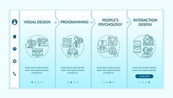 modelo de vetor de integração de design de experiência do usuário