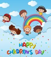 Feliz dia das crianças modelo vetor
