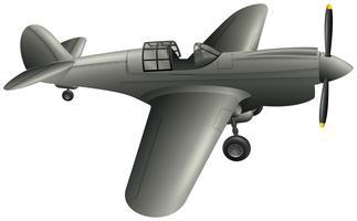 Avião do exército em fundo branco vetor