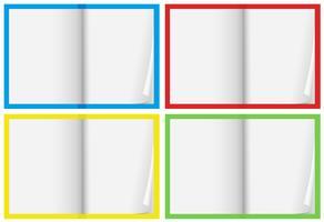 Um conjunto de caderno em branco vetor