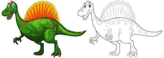Doodle animal para dinossauro vetor