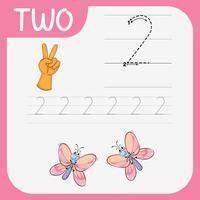 Como escrever planilha de número dois
