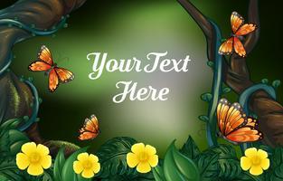 Design de plano de fundo para o texto de amostra com tema da natureza vetor