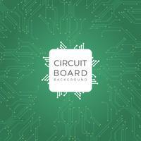 Ilustração em vetor plana moderna placa de circuito verde