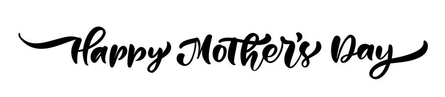 Feliz dia das mães texto vetor